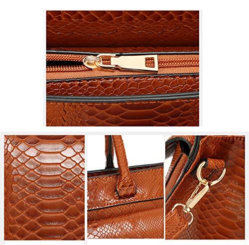 Marrón Mujer al marrón Hombro Bolso HCXIN Marrón para wUPR6qq0
