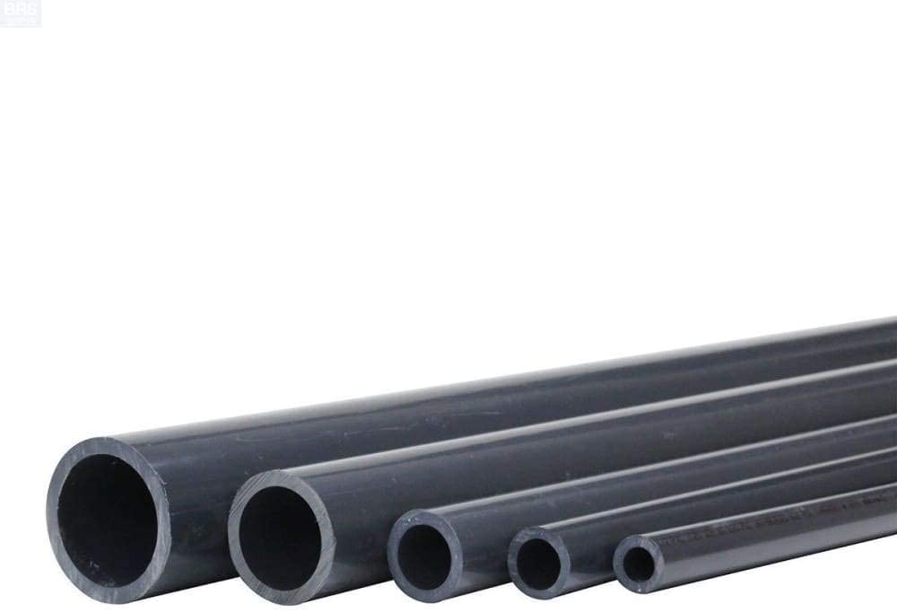 PVC 3 FT Premium Industrial PVC Pipe Schedule 80 Grey 1//2 Inch Grey .5
