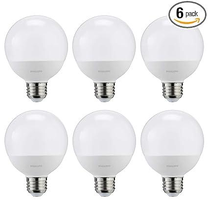 Frosted Light Bulbs >> Philips Led Non Dimmable G25 Frosted Light Bulb 350 Lumen 2700 Kelvin 4 5 Watt 40 Watt Equivalent E26 Base Soft White 6 Pack