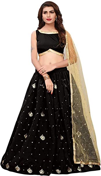 6dea9efa816 Clickedia Women's Banglore Cotton Silk Embroidery Work Semi-Stitched Lehenga  Choli with Blouse Piece (Pink Peach,Free Size): Amazon.in: Clothing & ...