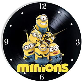 Minions Painted Vinyl Clock - Minions Colored Wall Clock - Unique Gifts for Fans Minions - The Best Home Decor