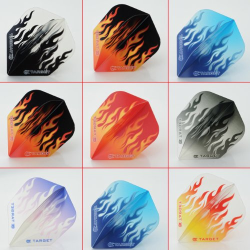 5 x Mixed Sets of Target Vision Flames Dart Flights Standard Shape by PerfectDarts