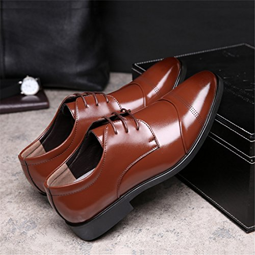 Mens Casual Work Lace-up Classic Multicolor Leather Vintage Oxford Shoes 718 Brown 7duHNP