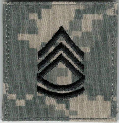 Iron On Embroidered Patch Top Quality ACU US Army E-7 E7 Sergeant First 1st Class Rank Hook Fastener 2