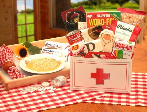 Get Well Gift First Aid Tasty Treat Get Well Box Gift Basket