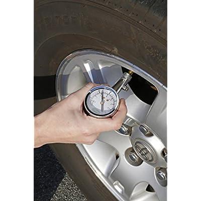 Slime 20049 Large Face Dial Tire Gauge, 5-60 PSI: Automotive