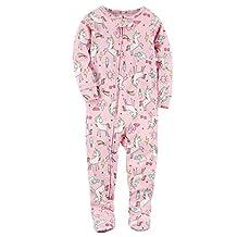 Carter's Girls' 12 Months-5T Unicorn Print One Piece Cotton Pajamas