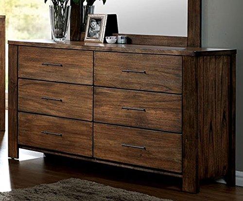 (Furniture of America CM7072D Elkton Oak Dresser Drawer Chest)