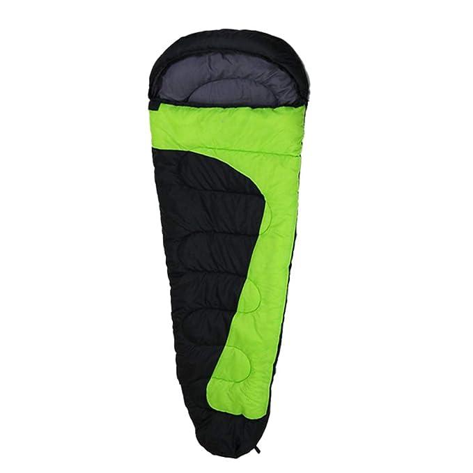 nihiug Saco De Dormir Momia Exterior Ligero Calor Impermeable Perfecto Para 5-15 Grados Color Matching Adult,Green-220x80cm: Amazon.es: Ropa y accesorios