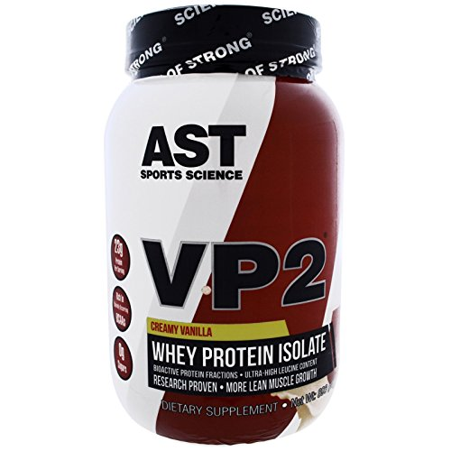 AST Sports Science, VP2, Whey Protein Isolate, Creamy Vanilla, 2.12 lbs (960 g) - 3PC by AST