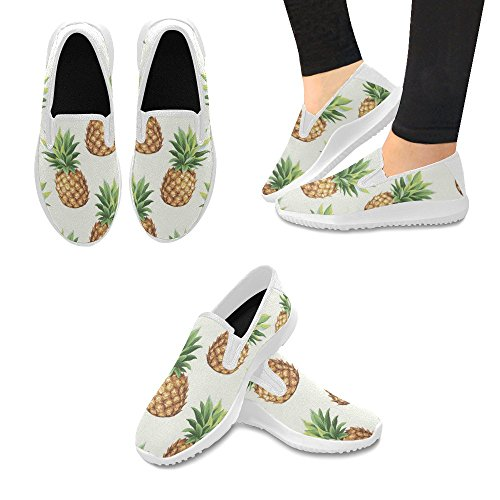Interestprint Mujeres Slip-on Loafer Zapatos Canvas Fashion Sneakers Multi 8