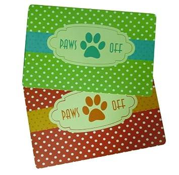 Amazon.com: Paws Off Juego de 2 plástico mascota perro gato ...