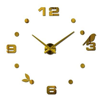 Vinteen Moderno Minimalista DIY Reloj Digital Personalizado Reloj Gran Reloj de Pared 3D Moda Salón Creativo