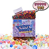 Toys : Water Bead for Kids, LEEHUR 50000 Pcs Water Gel Beads Pack Non-Toxic Sensory Play Toys for Orbeez Spa Refill Plants Vases Filler Party Decoration (9 ounces)