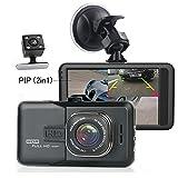 Camecho Dash Camera Dual Lens 3 Inch 1080P Full HD Black Box Video