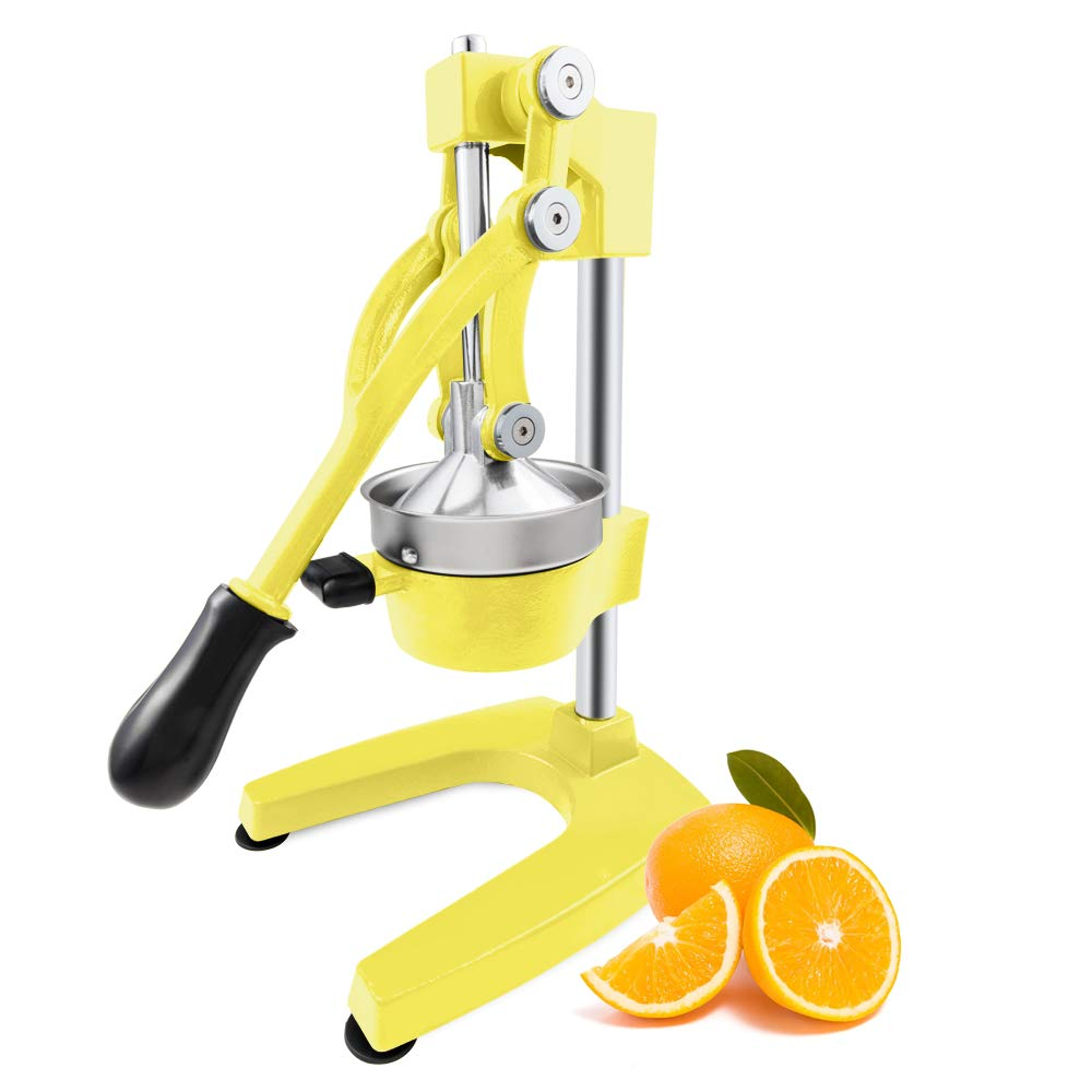 ROVSUN Commercial Grade Citrus Juicer Hand Press Manual Fruit Juicer Juice Squeezer Citrus Orange Lemon Pomegranate Yellow