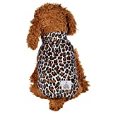 Spbamboo Pet Clothes For Puppy And Cats Round Neck Shirt Leopard Print Clothing