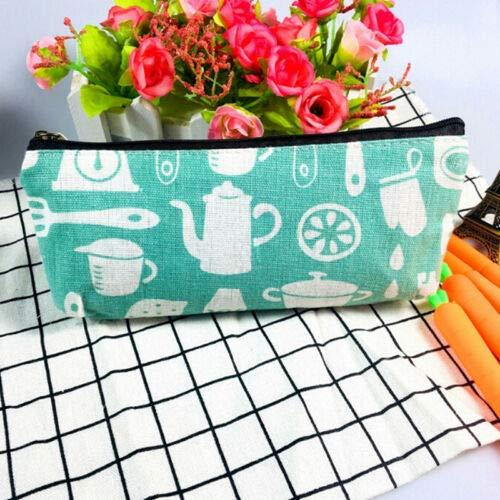 - Cotten Linen Pencil Pen Case Cosmetic Makeup Bag Storage Pouch Purse Stationery (Color - #3)