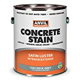 Anvil 1500 Concrete Stain, Interior Exterior Concrete Coating, Penetrating Acrylic Paint, Available in