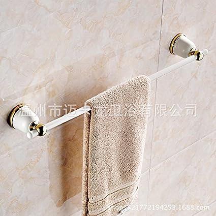 SYDLJ Un idílico baño pintadas de blanco a la parrilla cuelgan hardware pedazo de oro toallero