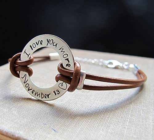 Amazon.com: Men's Adjustable Personalized Bracelet ...