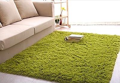 Newrara Super Soft 4.5 Cm Thick Modern Shag Area Rugs Living Room Carpet Bedroom Rug for Children's Play Rug Floor Rug Nursery Rug 4 Feet By 5 Feet