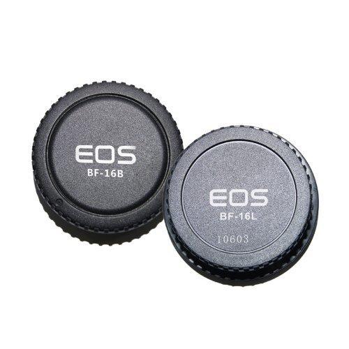 Pixel Lens Rear Cap + Camera Body Cap combo for Canon 1D 5D 7D 10d 50D 60D 1000D 550D 500D 450D..EOS & EF EF-S Lens End Combo