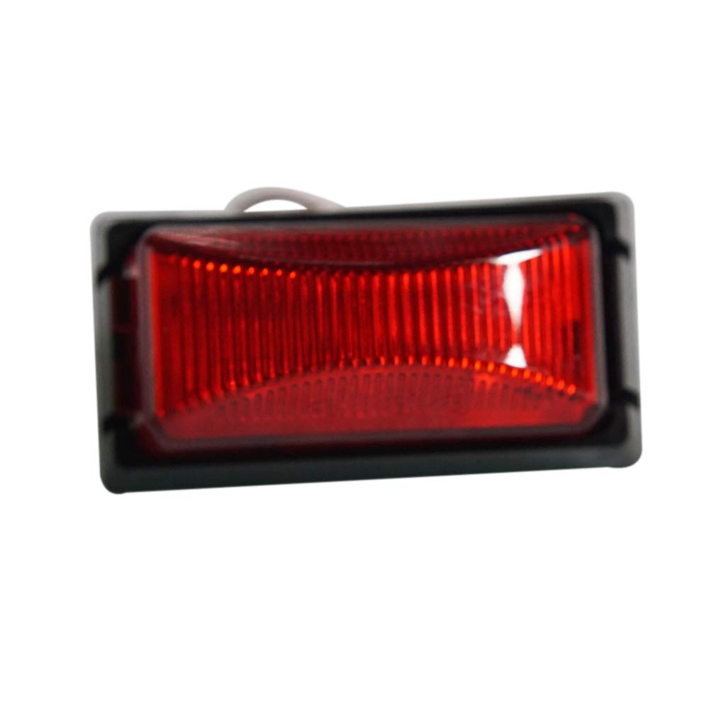 TOOGOO 2Pz 12V 6 LED Rimorchio Fanale Posteriore Indicatori di Direzione Indicatori di Luce Spia di Segnalazione per Camion Van Boat Rimorchio Luci Rosso