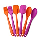 SmarketBuy Spoon Kitchen Batter Cooking Silicone Baking Spatula Set Brush Scraper