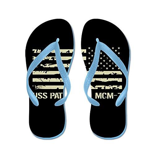 Cafepress Uss Patriot - Flip Flops, Grappige String Sandalen, Strand Sandalen Caribbean Blue