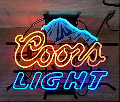 "XPGOODUSA Beer Neon Sign- Blue Ice Mountain 17""×13"" for Home Bedroom Garage Decor Wall Light, Striking Neon Sign for Bar Pub Hotel Man Cave Recreational Game Room"