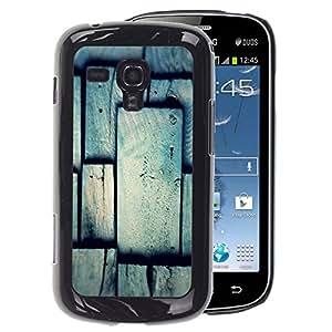 A-type Arte & diseño plástico duro Fundas Cover Cubre Hard Case Cover para Samsung Galaxy S Duos S7562 (Tile Pattern Grey Gray Polygon)