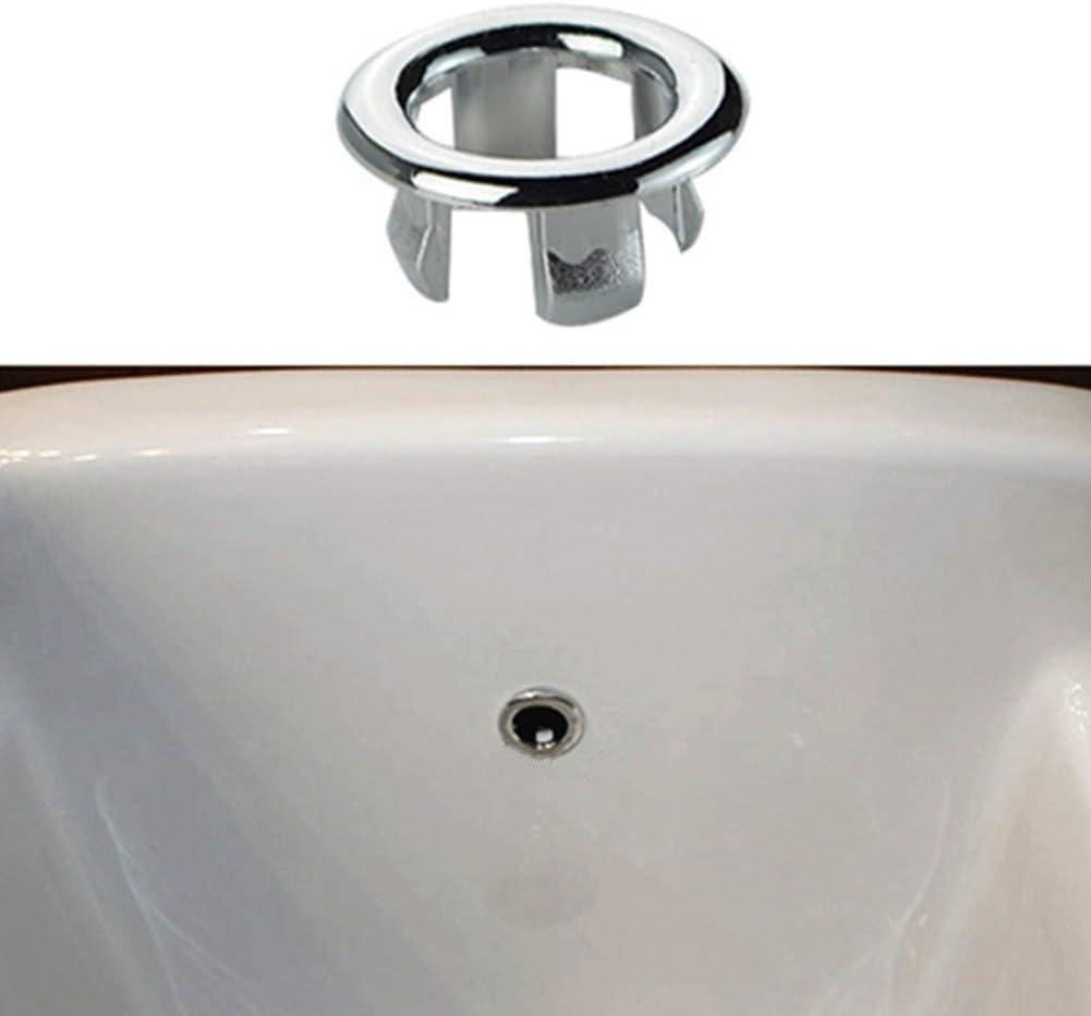 MOPKJH Tappo lavandino Bagno Tappo Vasca da Bagno Copri Tappo del Bagno Copertura di Troppo Pieno lavandino troppopieno 1