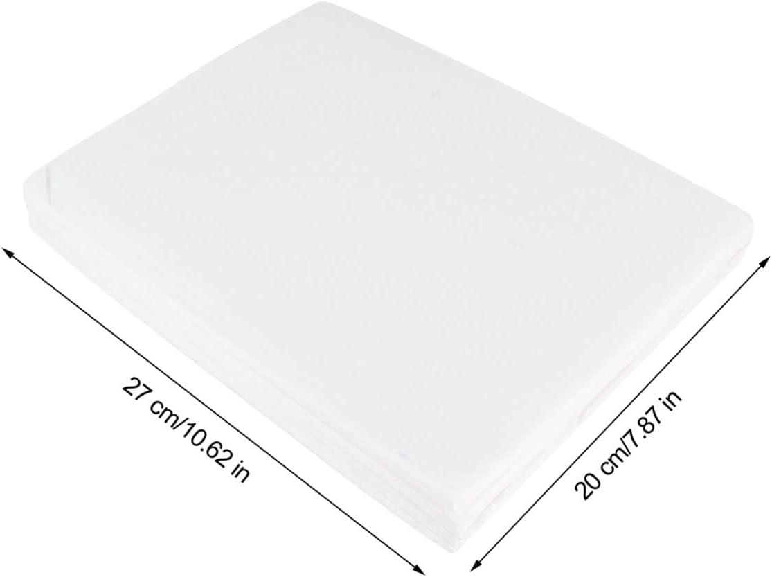 Bianco POPETPOP 100 Pezzi USA E Getta Fodere per Gabbia per Uccelli in Carta Non Tessuta Assorbente Gabbie Pappagallo Cuscino Pad Accessori Mat