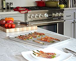 Baking Half Sheet Pan and Rack Set - Commercial Grade Aluminum Half Size 18\