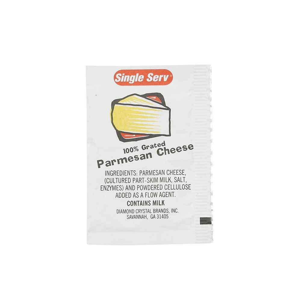 Single Serv Parmesan Cheese Packets, 3.5 Gram - 200 per case. by Diamond Crystal
