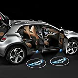 iTimo 2pcs Wireless Battery Operated Led Car Door Logo Emblem Projector Lights Auto Magnetic Easy Install Courtesy Welcome Shadow Lamp With 6AAA included (Batman)