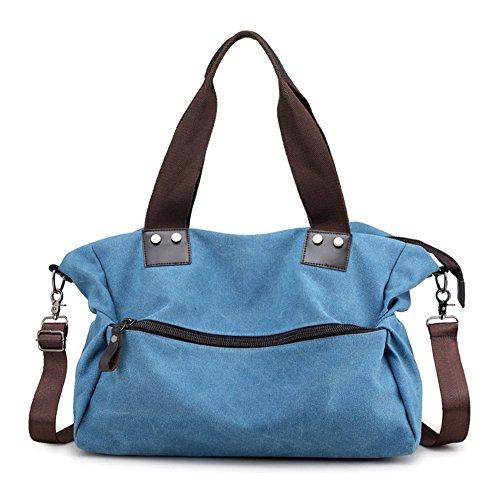Kigurumi Bolso Hombro Mujer Bolso Lona Grande Azul