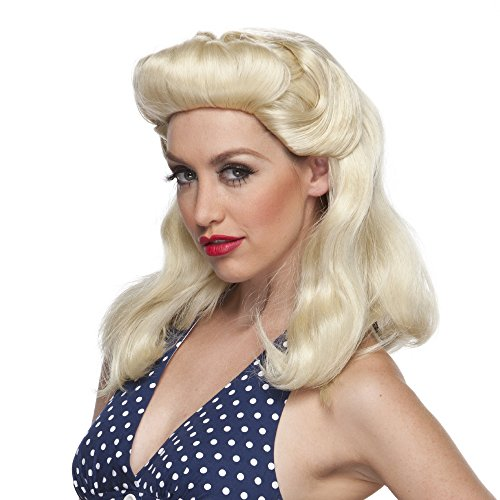 [40s Pinup Girl by Sepia Costume Wigs,Blonde] (1940s Pin Up Girl)