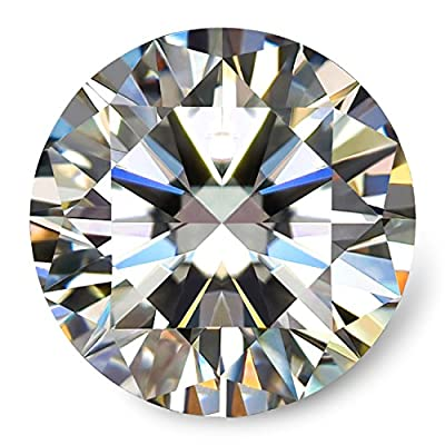 Swhite GH Colorless Simulated Diamond Moissanite Loose Stone, Excellent Cut Round Brilliant VVS Clarity
