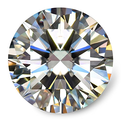 Swhite GH Colorless Simulated Diamond Moissanite Loose Stone, Excellent Cut Round Brilliant VVS Clarity (Moissanite)