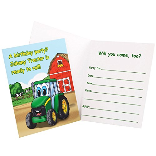 BirthdayExpress Johnny Tractor Invitations (8 Count) -