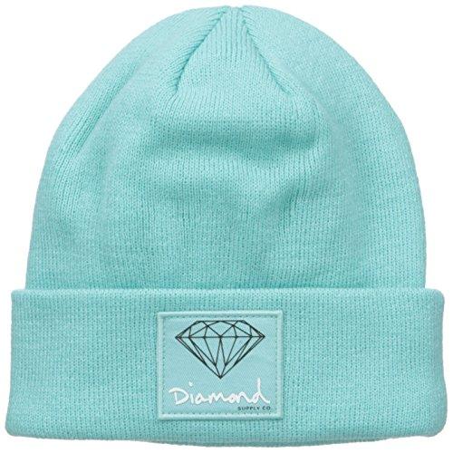 Diamond Supply Co. Men's OG Sign Beanie, Diamond Blue, One-Size
