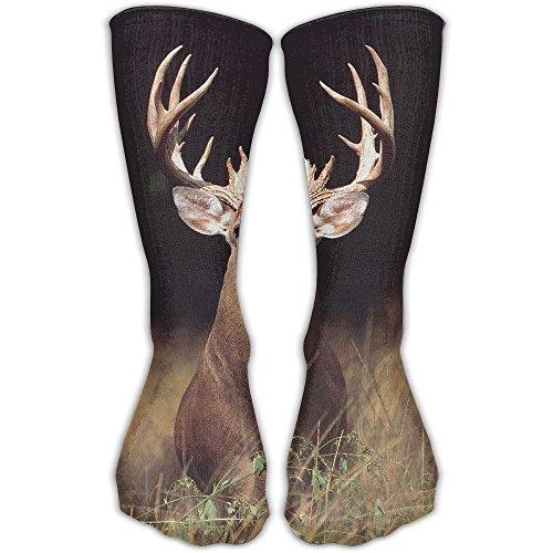 Cananhjs Trophy Buck Deer With Big Rack Athletic Tube Stockings Women's Men's Classics Socks Sport Long Sock One (Trophy Rack Costume)