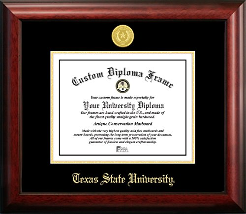 "Campus Images TX956GED Texas State, San Marcos Gold Embossed, 14"" x 11"" from Campus Images"