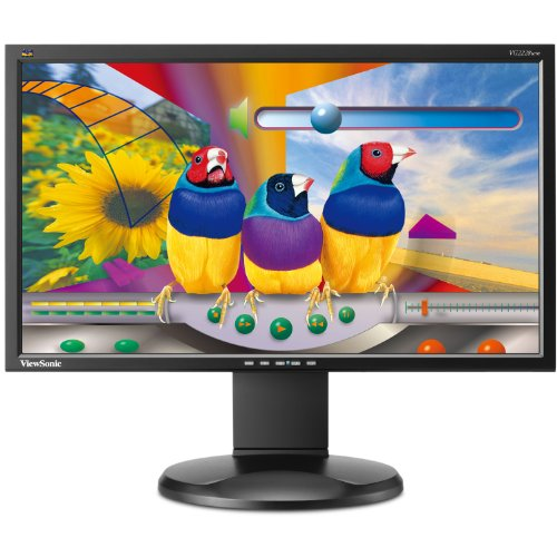 Price comparison product image ViewSonic VG2228WM 22-Inch Ergonomic Widescreen Monitor with 1920x1080 Resolution - Black