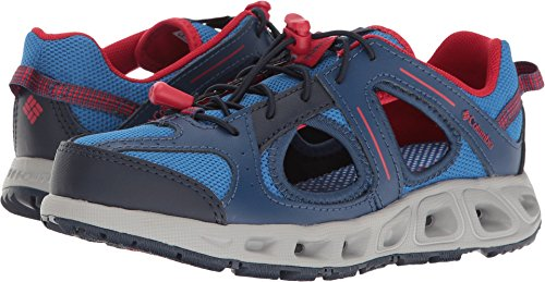 Columbia Kids' Youth Supervent Water Shoe, Stormy Blue/Mountain Red, 4 M US Big Kid