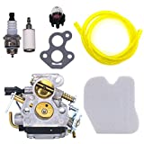 FitBest Carburetor with Air Filter Fuel Line / Filter for Husqvarna 235 235E 236 236E 240 240E Chainsaw replaces 574719402 545072601 Carb