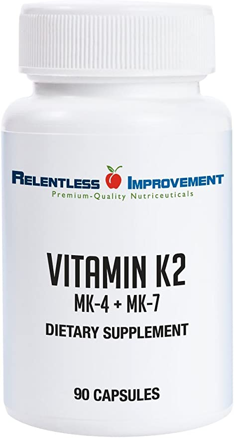 Amazon Com Relentless Improvement Vitamin K2 Mk4 Plus Mk7 Vegan Naturally Derived Health Personal Care