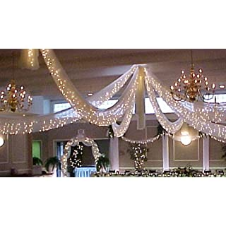 Wedding lights decorations for reception do it yourselfore spring rose christmas wedding decoration light set 24 feet long 100 clear bulbs with solutioingenieria Images